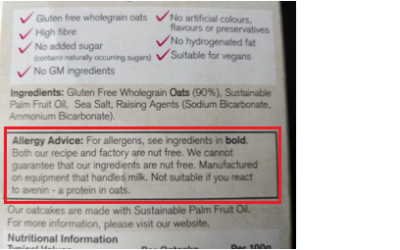 Misleading Label – Caught out at the Supermarket!